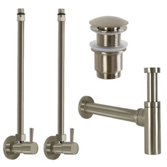 Satin Nickel All-Inclusive Sink Installation Kit Remer SA400-NP