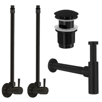 Matte Black All-Inclusive Sink Installation Kit Remer SA400L-NO