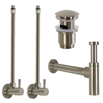 Satin Nickel All-Inclusive Sink Installation Kit Remer SA400L-NP