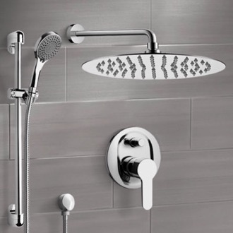 Chrome Shower Set With 16