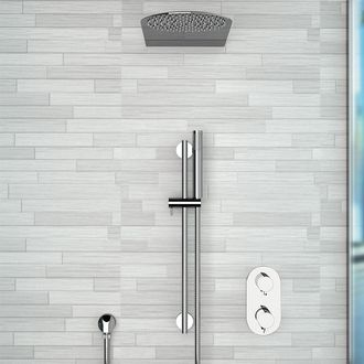 Chrome Thermostatic Shower System with 10