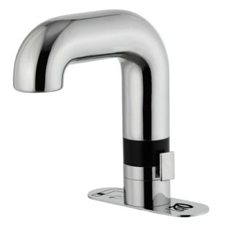 Bathroom Faucet Electronic Sensor Controlled with Hot and Cold Adjustment Lever Remer SE14BUS