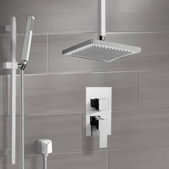 ceiling mounted shower head. Shower Faucet System With Ceiling 9.5 Mounted Head