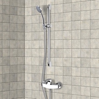 Chrome Slidebar Shower Set With Hand Shower Remer SR003