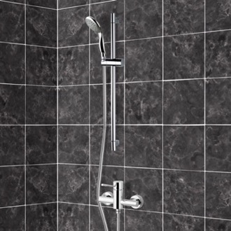 Shower Faucet Chrome Slidebar Shower Set With Multi Function Hand Shower Remer SR004