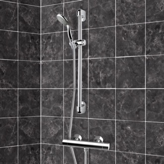 Chrome Thermostatic Slidebar Shower Set With Multi Function Hand Shower Remer SR009