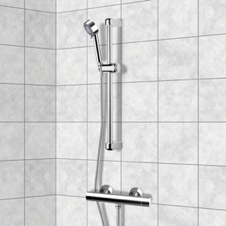 Chrome Thermostatic Slidebar Shower Set With Multi Function Hand Shower Remer SR010