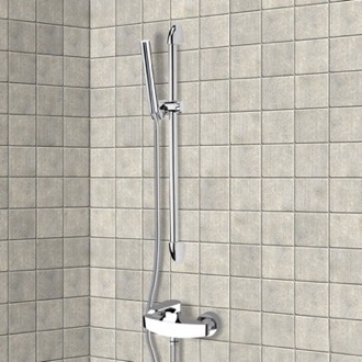 Chrome Slidebar Shower Set With Hand Shower Remer SR012