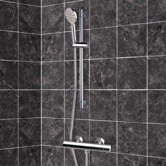 Chrome Thermostatic Slidebar Shower Set With Multi Function Hand Shower Remer SR014