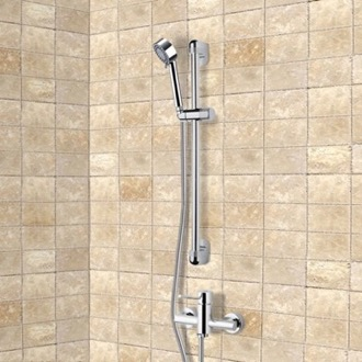 Chrome Slidebar Shower Set With Multi Function Hand Shower Remer SR025