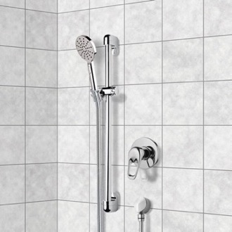 Chrome Slidebar Shower Set With Multi Function Hand Shower Remer SR031