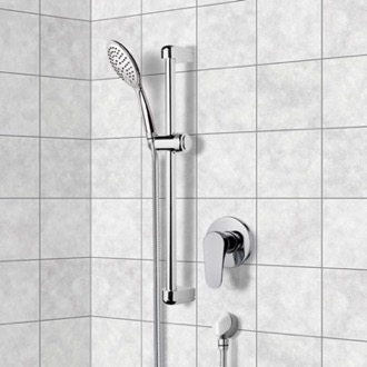 Chrome Slidebar Shower Set With Multi Function Hand Shower Remer SR033