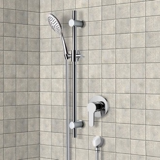Chrome Slidebar Shower Set With Multi Function Hand Shower Remer SR034