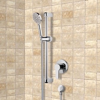 Chrome Slidebar Shower Set With Multi Function Hand Shower Remer SR035