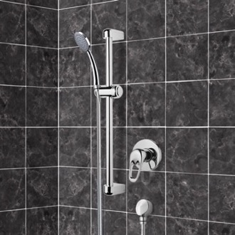 Chrome Slidebar Shower Set With Hand Shower Remer SR036