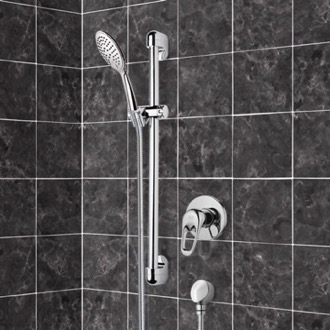 Chrome Slidebar Shower Set With Multi Function Hand Shower Remer SR042