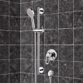 Chrome Slidebar Shower Set With Multi Function Hand Shower Remer SR043