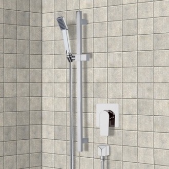 Shower Faucet Chrome Slidebar Shower Set With Hand Shower Remer SR044