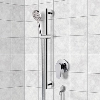 Chrome Slidebar Shower Set With Multi Function Hand Shower Remer SR046