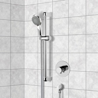 Chrome Thermostatic Slidebar Shower Set With Multi Function Hand Shower Remer SR047