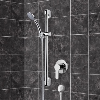 Chrome Slidebar Shower Set With Hand Shower Remer SR049