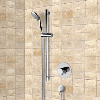 Chrome Thermostatic Slidebar Shower Set With Multi Function Hand Shower Remer SR050