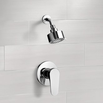 Chrome Shower Faucet Set with Multi Function Shower Head Remer SS01