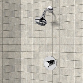 Chrome Thermostatic Shower Faucet Set with Multi Function Shower Head Remer SS02