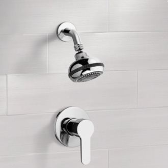 Chrome Shower Faucet Set with Multi Function Shower Head Remer SS07