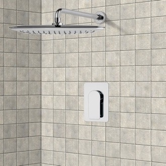 Shower Faucet Chrome Shower Faucet Set with 14