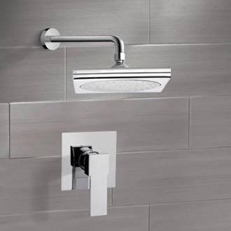 Shower Faucet Chrome Shower Faucet Set with 9