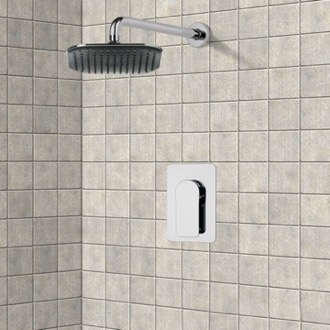 Shower Faucet Chrome Shower Faucet Set with 8