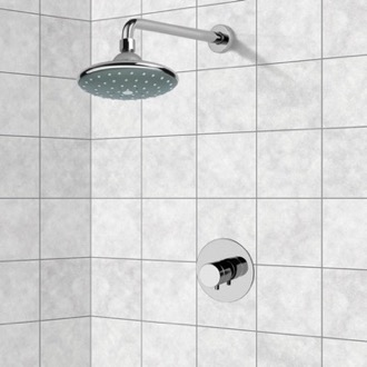 Shower Faucet Chrome Thermostatic Shower Faucet Set with 6