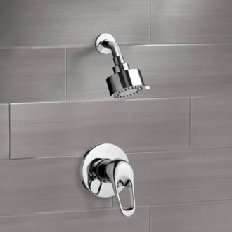 Chrome Shower Faucet Set with Multi Function Shower Head Remer SS1082