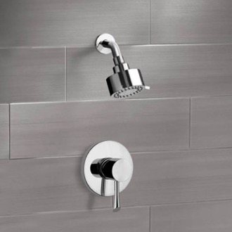Chrome Shower Faucet Set with Multi Function Shower Head Remer SS1083