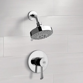 Chrome Shower Faucet Set with Multi Function Shower Head Remer SS1202