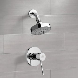 Chrome Shower Faucet Set with Multi Function Shower Head Remer SS1203