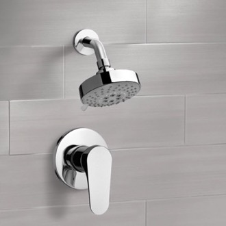 Chrome Shower Faucet Set with Multi Function Shower Head Remer SS1204