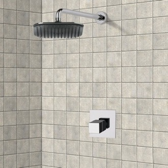 Shower Faucet Chrome Thermostatic Shower Faucet Set with 8