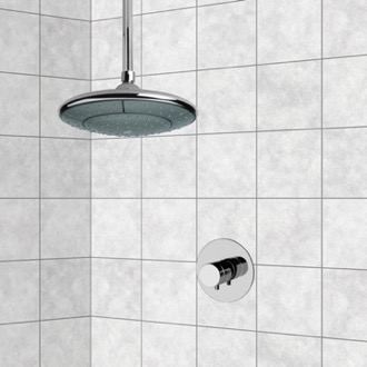 Shower Faucet Chrome Thermostatic Shower Faucet Set with 9
