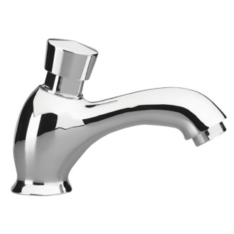 Bathroom Faucet Brass Temporized Pillar Tap in Chrome Remer TE16US