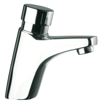 Bathroom Faucet Temporized Brass Pillar Tap with Chrome Finish Remer TE20US