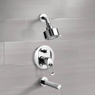 Chrome Tub and Shower Faucet Sets with Multi Function Shower Head Remer TSF2082