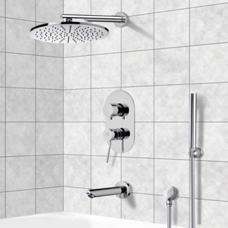 Tub and Shower Faucet Tub and Shower System with 12