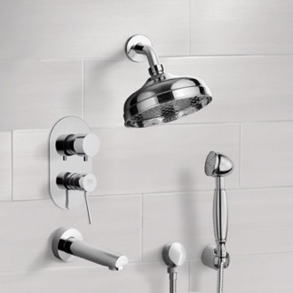 Tub and Shower System with 8