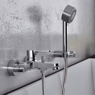 Wall Mounted Tub Faucet With Hand Shower Remer W02