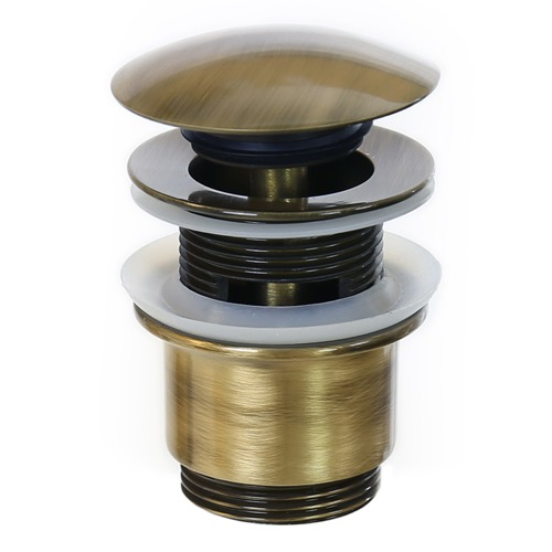 Click Clack Pop-up Waste With Overflow in Old Brass S2077-Old Brass