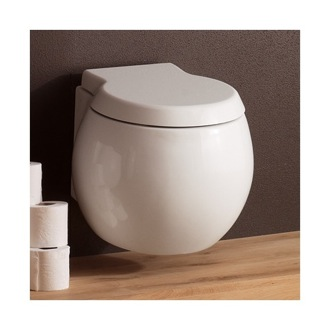 Toilet Contemporary White Ceramic Wall Hung Toilet Scarabeo 8105