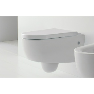 Wall Mounted Classic Style Ceramic Toilet Scarabeo 8048