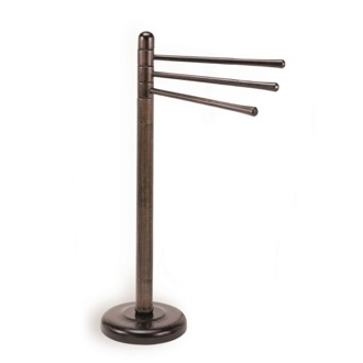 Towel Stand Free Standing Walnut Wood Towel Stand 023 StilHaus 023